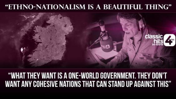 """""""Ethno-nationalism is a beautiful thing"""" – Michael McCarthy on the Niall Boylan Show"""