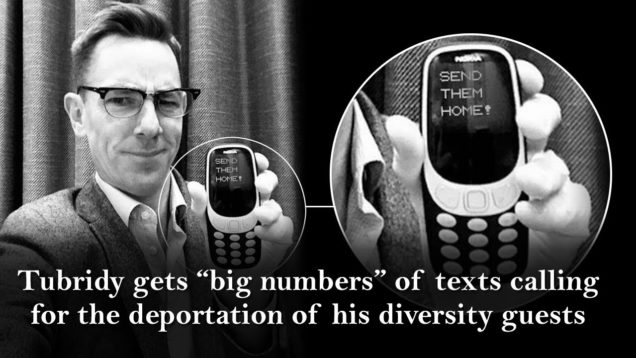 "Lying Ryan Tubridy always gets ""big numbers"" of texts calling for the deportation of his diversity guests – Report Him!"