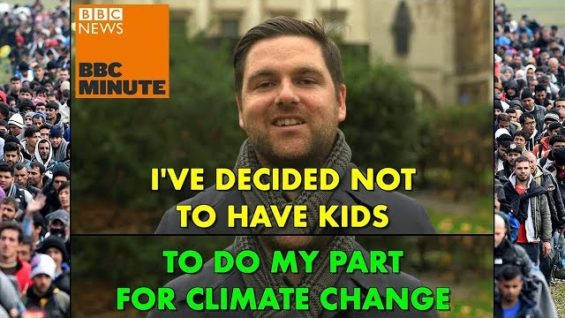 White Canadian isn't going to have children to fight climate change