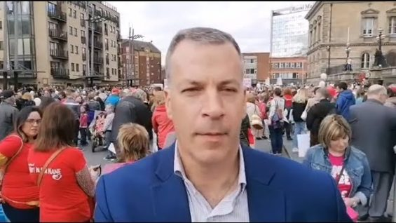 Hermann Kelly – President of the Irish Freedom Party – Belfast Rally for Life