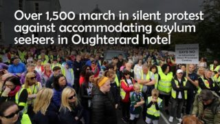 Over 1,500 march in silent protest against accommodating asylum seekers in Oughterard hotel