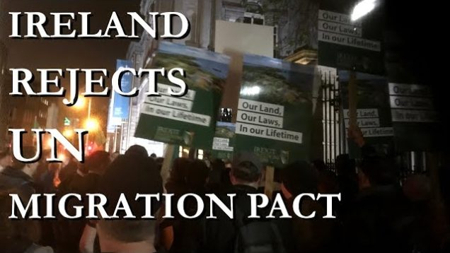 Ben Scallan speaks at Irexit Protest against UN Migration Pact