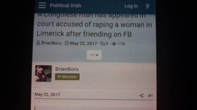 Congolese man Rapes woman after Befriending on FB in limerick