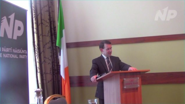 """Justin Barrett in Dundalk – """" National Unity Under a National Government"""""""