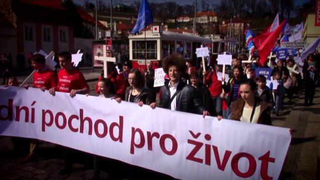 Knights Templar At Huge Pro Life Rally In Prague