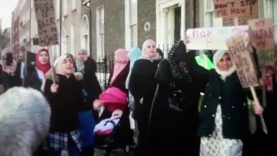 Muslims protesting about the Hijab in Dublin