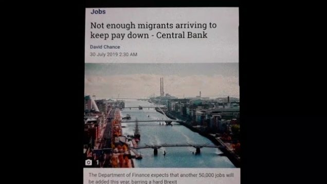 Not enough migrants Arriving to keep Pay Down
