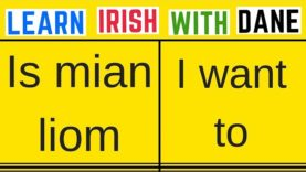 How To Say I Want To In Irish