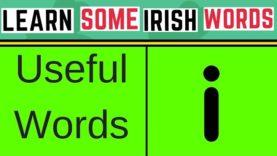 5 Useful Words In Irish