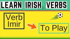 Irish Verb Imir – To Play
