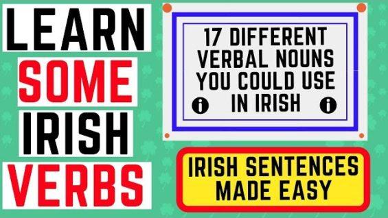 Irish Sentence Structure – Verbal Nouns