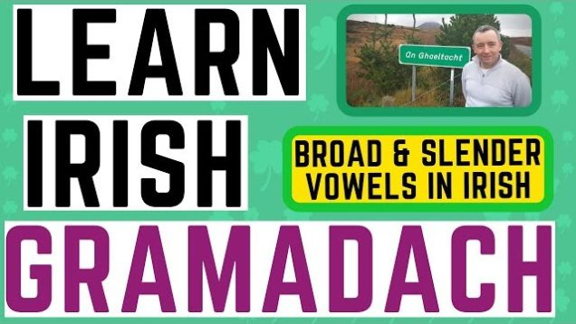 Irish Grammar Lesson – Broad and Slender Vowels
