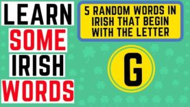 Irish Words That Begin With The Letter G