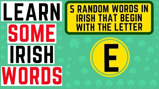 Learn Irish Words Beginning with the Letter E – Learn Irish Gaelic