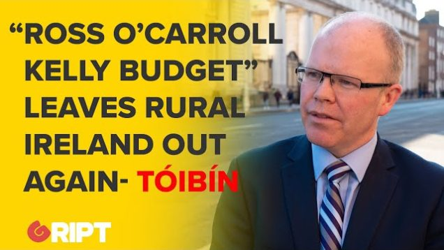 "Peadar Tóibín Hammers ""Ross O'Carroll-Kelly"" Budget, Demise of Rural Ireland"