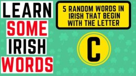 Irish Words Beginning With the Letter C