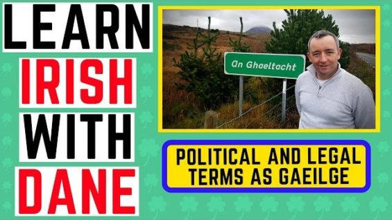 What's the Irish for Politics? Political terms as gaeilge