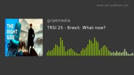 TRSI 25 – Brexit: What now?