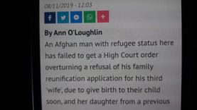 AFGHAN man wants to import his third wife