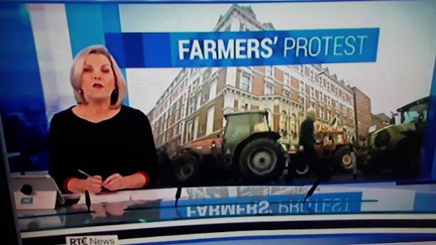 Farmers protest outside leinster house
