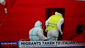 Hundreds of Africans land in Italy from German NGO SHIPS  to be relocated around Europe