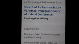 Leo varadker's speech to the immigrant council of Ireland part 1