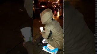 Leo's Ireland: Hungry, Cold, Irish Girl Begging on the Street on a Rainy Night!