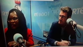 RTE Radio with anti white Racist Dr Ebun Joseph and communist Aodan o Riordan