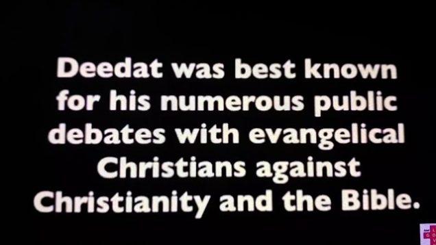 The Down fall of muslim Debater Ahmed Hussein Deedat.