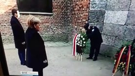 Angela Merkel in Auschwitz vows to fight anti semitism
