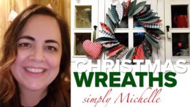 WATCH Michelle make beautiful craft Christmas garlands and wreaths