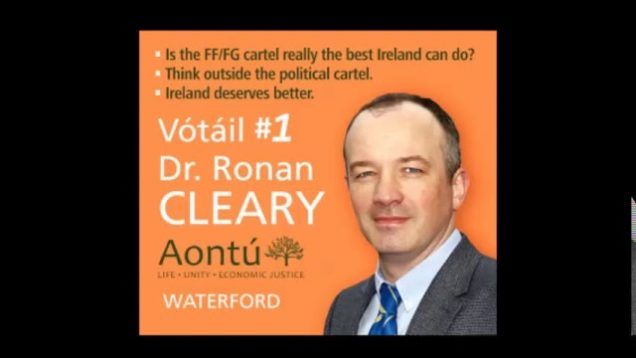 Dr. Ronan Cleary (Aontu) Interview with Damien Tiernan on WLR