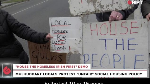 House the People Fairly protest in Dublin at news that there are different lists for social housing