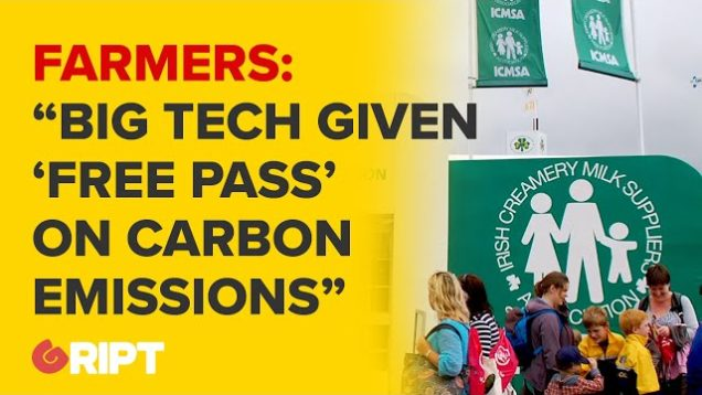 """Stop scapegoating famers for carbon emissions while big tech gets a free pass"" : Farmers protest"