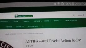 Sinn fein online shop selling Antifa Badges
