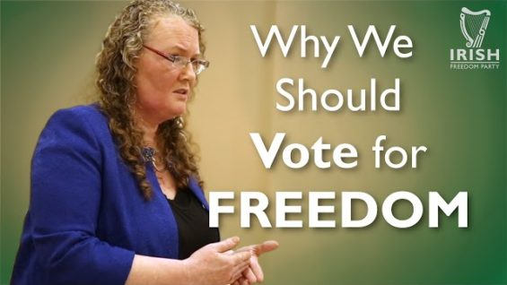 Why Ireland Should Vote for Freedom – Dolores Cahill   IFP Tipperary Cumann Meeting